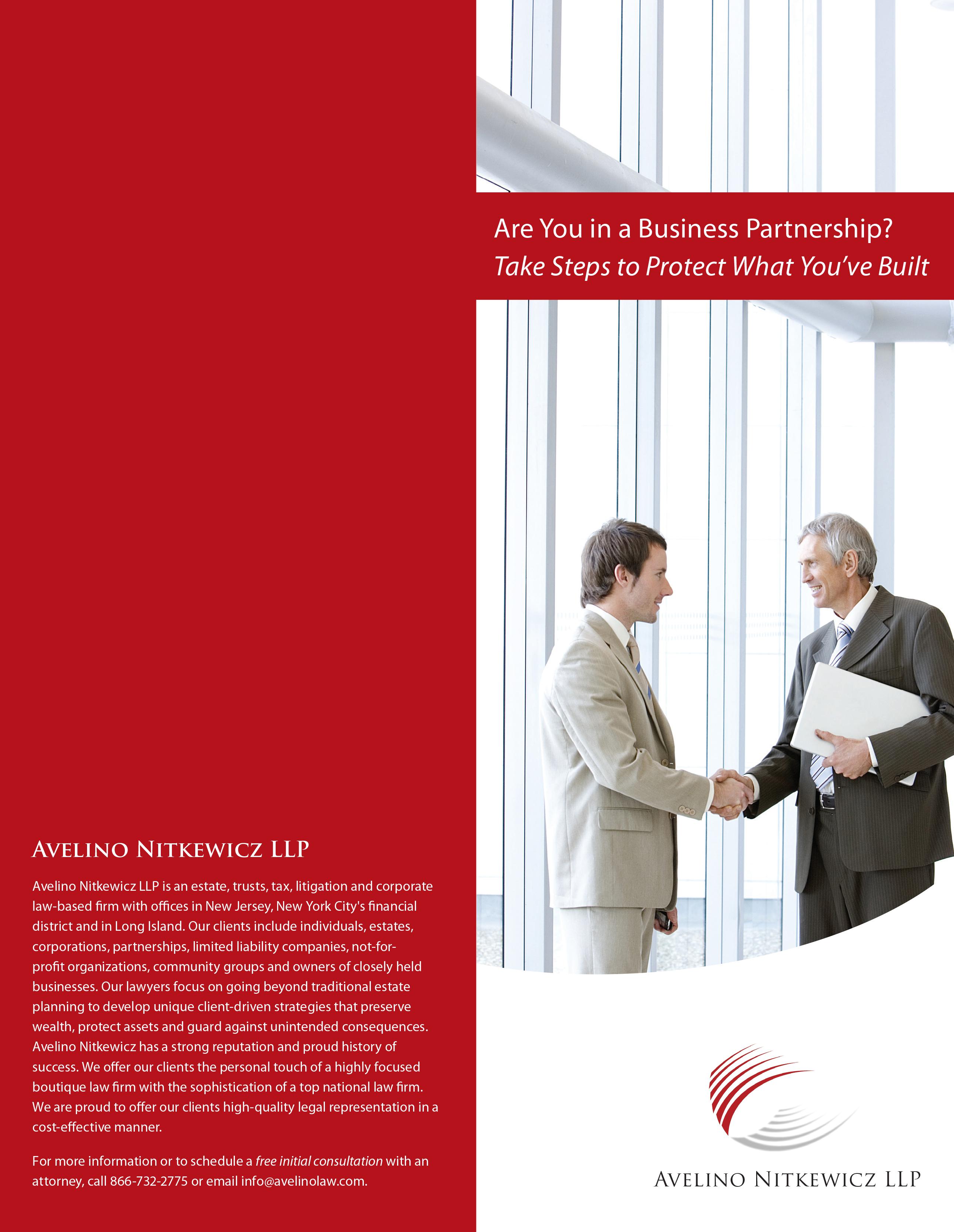 Law Firm Brochures Avelino Nitkewicz LLP – Law Firm Brochure